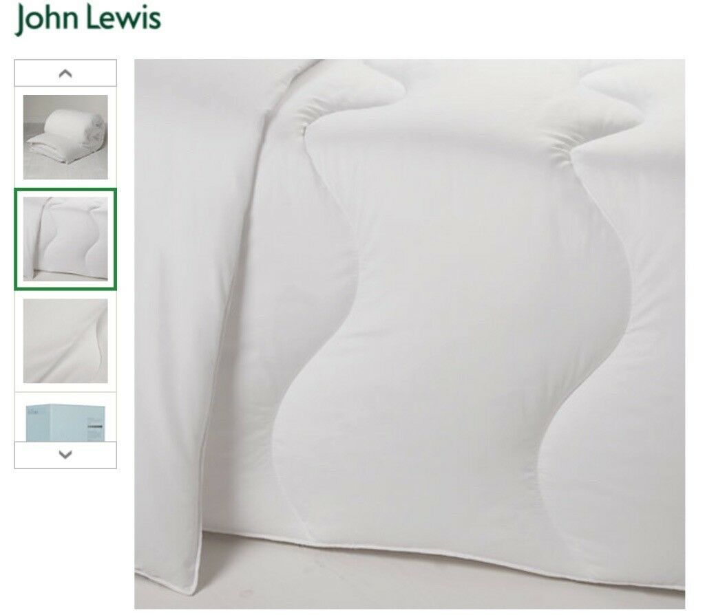 John Lewis Duvet, King size 225x220cm, 100% Polyester, 10.5 tog
