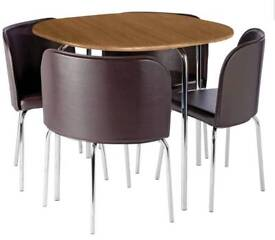 Brand new oak effect table with 4 chairs