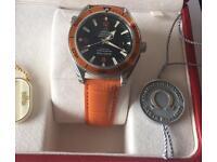 Omega Seamaster Planet Ocean Orange Bezel 600m Co Axial 2909.50.38 Full Set