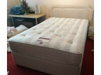 Double divan bed and drawers: Sleepmaster Serenity with Backcare Ultima Mattress