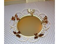 VINTAGE / RETRO / KIRSCH WROUGHT IRON MIRROR Shabby Chic Style