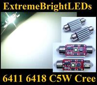 TWO HID WHITE Canbus Error Free 6418 C5W Cree XP-E LED Lights
