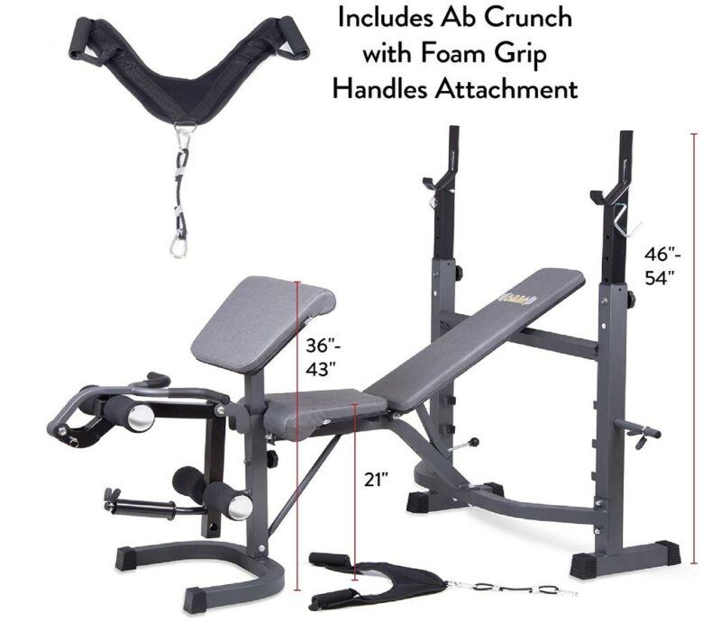 Body Champ BCB5860 Olympic Weight Bench - Dark Gray/Black