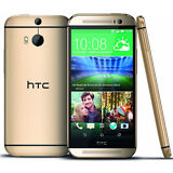 """New HTC One M8 AT&T 4G LTE GSM Unlocked 32GB 5"""" Android Smartphone Gold"""