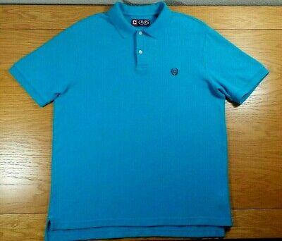 CHAPS 100% Cotton Business Casual Dress or Golf Polo Shirt Size M Men's Medium Cotton Business Men Casual Shirt