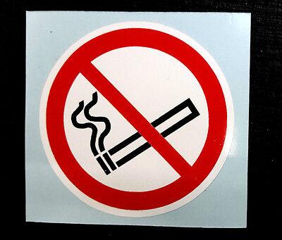 Small No Smoking self adhesive sticker