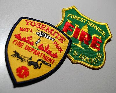 Fire Fighter Schulter Abzeichen Aufbügelbare 2-patch: Yosemite Park Dept + ()