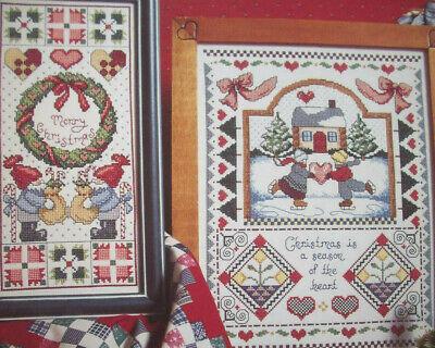 Danish Country Christmas cross stitch pattern  Gnomes skating ()