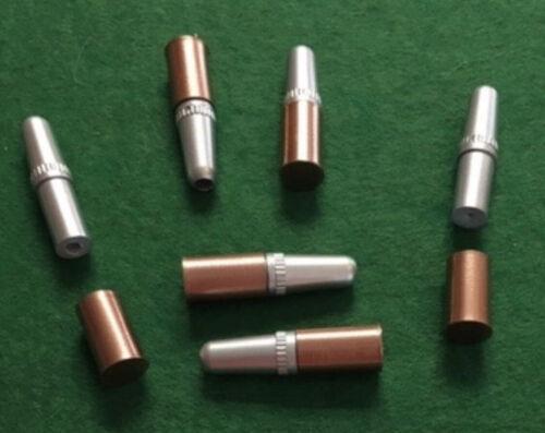 Hubley Colt .44 and .45 Copper color case Plastic Ejection Molded  Gun Bullets