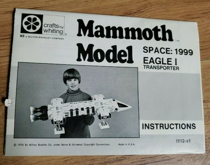 INSTRUCTIONS ONLY for Space 1999 eagle 1 Mammoth Model 1976 Paper Model Kit