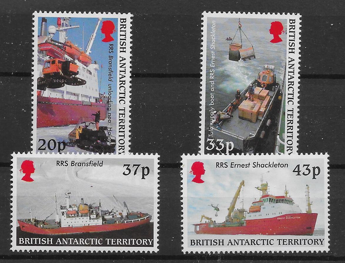 BRITISH ANTARCTIC TERR. SG325/8 2000 ANTARCTIC SUPPLY SHIP MNH