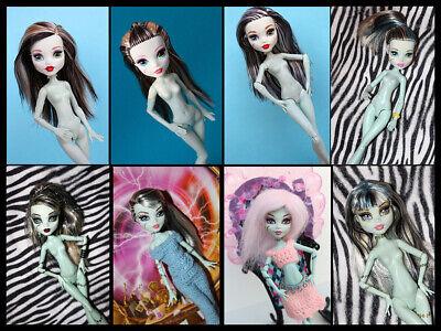 monster high frankie stein, doll, monster high,nude,fashion,kleidung,wig,perücke