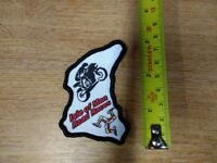IRON OR SEW ON.100X85MM ISLE OF MAN TT RACING PATCH,GREAT DETAIL AS CAN BE SEEN