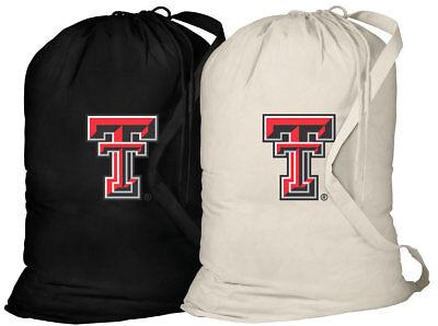 Texas Tech Laundry Bags TTU BEST 2PC SET Texas Tech Red Raiders Clothes Bags