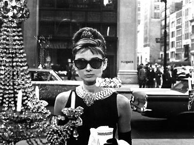 Audrey Hepburn Breakfast at Tiffanys Art Canvas Poster Print Iconic Movie - Breakfast At Tiffanys Star