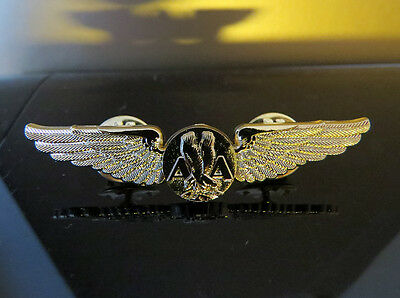 AA American Airlines Wings Pin Gold Pilot Stewardess Flight Attendant replica