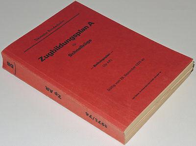 Zugbildungsplan A für Schnellzüge - Reihungsplan (ZpAR) Winter 1975/76