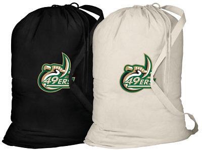 Unc Apparel (UNCC Laundry Bag 2 PC SET UNC CHARLOTTE Clothes Bags EASY CARRY SHOULDER)
