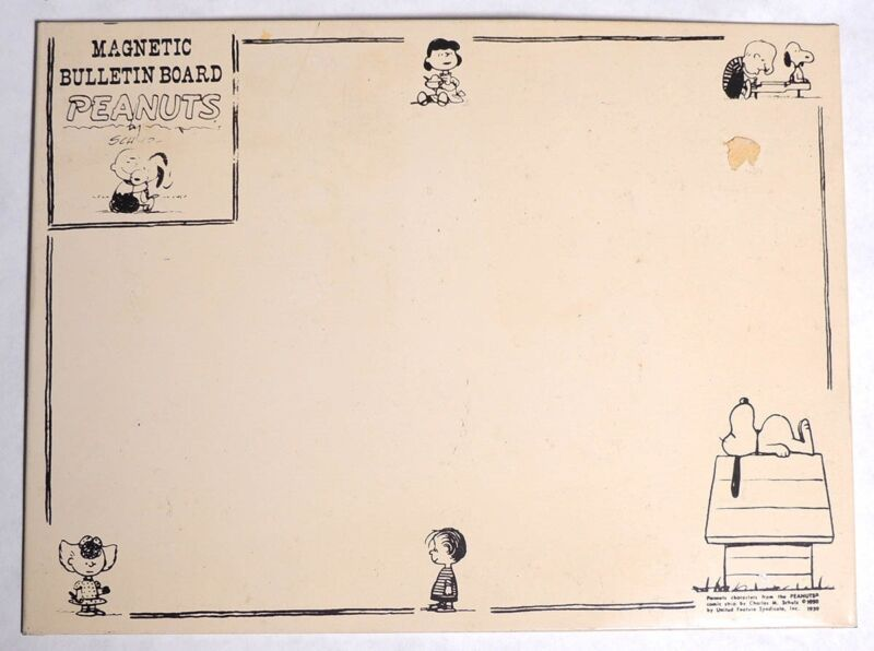 ESZ7309. Vintage: Peanuts Snoopy MAGNETIC BULLETIN BOARD Simon Simple (1959) ~