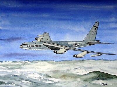 ORIGINAL GOUACHE - Boeing B-52 Stratofortress.
