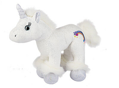 "Ganz Plush Stuffed Toy 10"" Astra Unicorn, White"