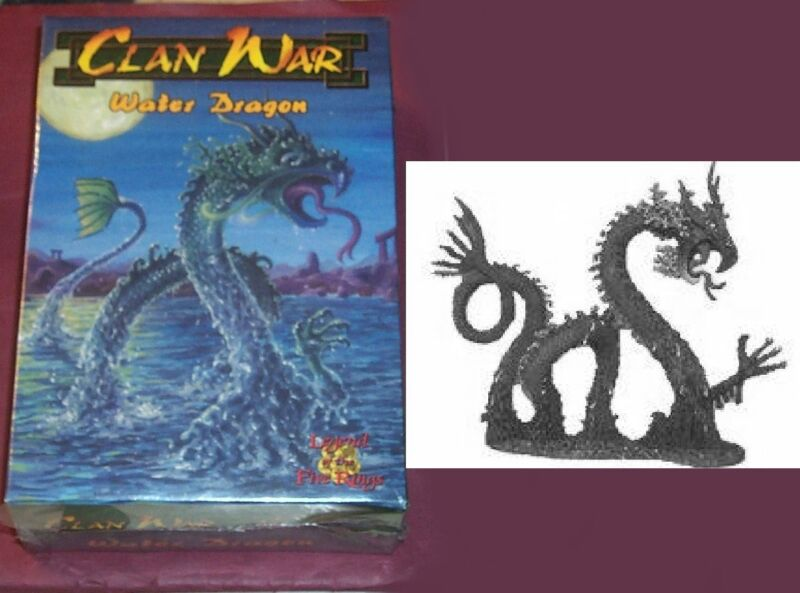 Clan War 99-005 L5R Water Dragon (Metal) (1) Miniature Sea Serpent Asian Drake