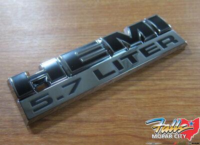 2006-2012 Ram 1500 2500 3500 5.7L HEMI Right Or Left Fender Emblem Mopar OEM