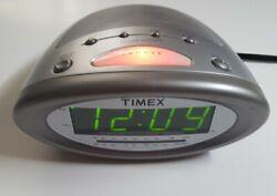 TIMEX Dual Alarm Nature Sounds Clock Radio T232S LED Illuminated Snooze