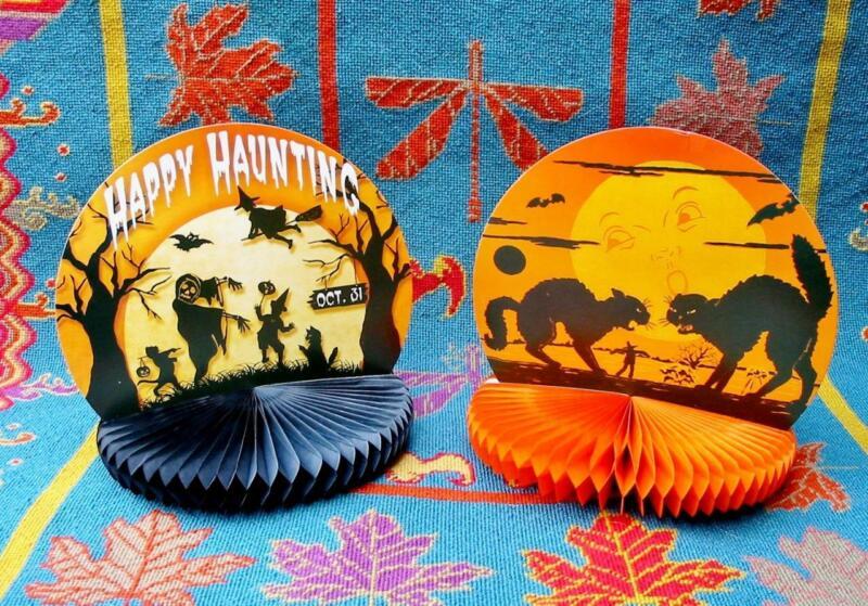 Bethany Lowe Halloween Honeycomb Rosette Paper Centerpiece Set of 2