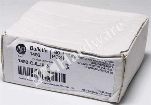 Box of 60 New Allen Bradley 1492-CJLJ6-3 /A Plug-In Center Jumper 6mm 3 Pole