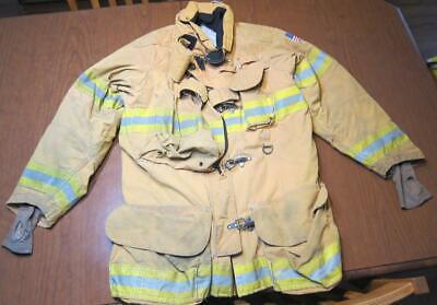 Lion Janesville Firefighter Fireman Turnout Gear Jacket Size 44.35.r - C Ag1
