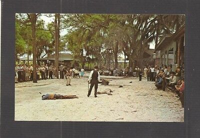 Postcard   Scene After Bank Robbery At Six Gun Territory   Silver Springs  Fl