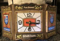 Rare Old Style Beer Lighted Clock Vintage Bar Sign Advertisment Works Antique