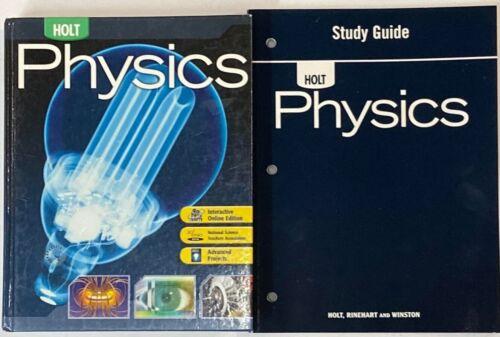 Holt Physics Textbook Workbook Bundle Curriculum Homeschool High School