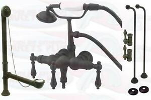 Oil-Rubbed-Bronze-Clawfoot-Tub-Faucet-Drain-Supply-Kit