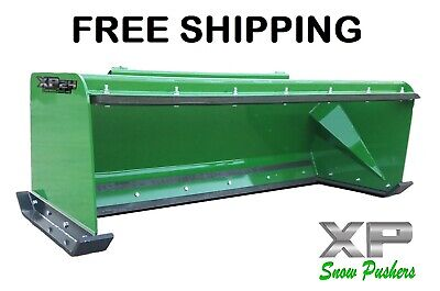 7 Xp24 John Deere Snow Pusher W Pullback Bar- Tractor Loader Free Shipping