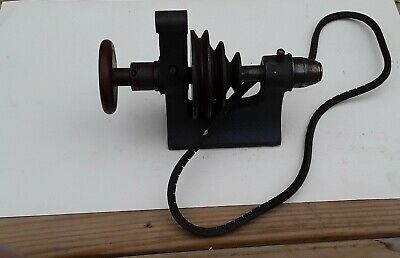 Vintage Lathe Machine 3-step Pulley Driven Headstock Unknown Brandmodel