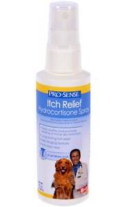 Pro Sense Itch Relief Hydrocortisone Aloe Vera Spray For Dogs Pets Animals 4 Oz