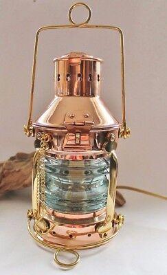 Ankerlampe Kupfer & Messing elektrisch 230V E14 max. 25 W ca. 24 x Ø 12 cm