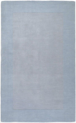 Surya Light Blue 8 x 10 Wool Border Contemporary Area Rug -