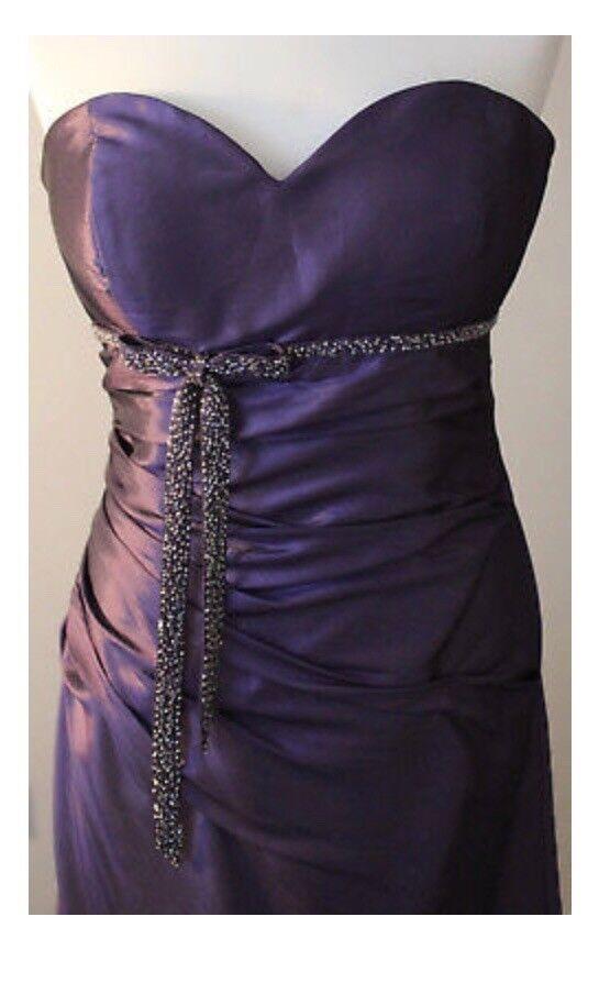 New Size 12 Cadbury Purple Beaded Prom / Bridesmaid Dress By D\'Zage ...