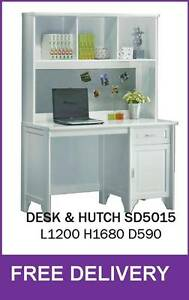 DELIVERED FREE - JEANIE Desk + Hutch – BRAND NEW New Farm Brisbane North East Preview