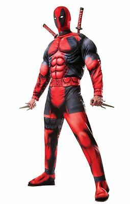 Men's Marvel Universe Classic Muscle Chest Deadpool Halloween Costume NO MASK