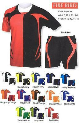 16 Soccer Team Jerseys Shirts Uniforms CEN1236  Wholesale School $19/kit.