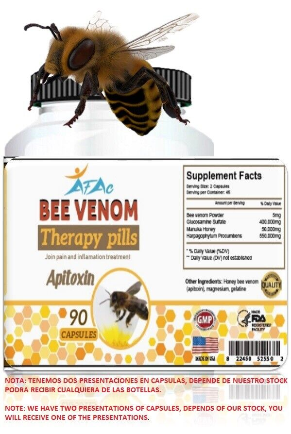 NATURAL BEE,BIOBEE anti-inflamatory Arthritis Pain abeemed bee therapy NIB 90 C 3