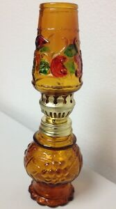 MINIATURE GLASS KEROSENE LAMP 5.5