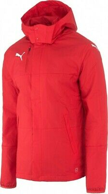 Mens Puma Windbreaker Coat Jacket Size Medium Red