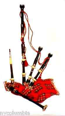 Special Section Scottish Great Highland Bagpipes Sheesham Wood Silver Mounts With Tutor Book Bagpipes
