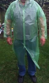 RAINCOAT (PAC-A-MAC) WITH HOOD, REUSABLE ADULT UNISEX, (Large), (NEW)