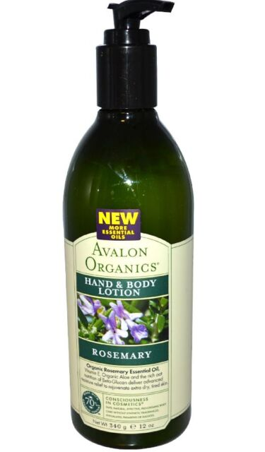 NEW AVALON ORGANICS HAND & BODY LOTION ROSEMARY SKIN HEALTH CARE BEAUTY LIQUID